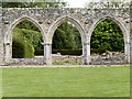 SU3802 : Beaulieu Abbey, Chapter House Arches by David Dixon
