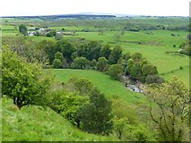 NY6166 : Steep slopes defend Birdoswald Roman Fort by Russel Wills