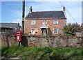 TG4026 : Elizabeth II postbox, Manor House Farm by JThomas