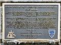 SH5571 :  Black Plaque: Pont Menai  (Welsh) by Gerald England