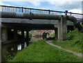 SK5979 : Pipe bridge next to High Hoe Road Bridge No 44a by Mat Fascione