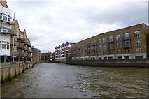 TQ3680 : Wharf near Narrow Street by DS Pugh