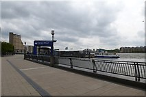 TQ3680 : Cnary Wharf pier by DS Pugh