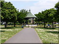 TQ1579 : Bandstand, Elthorne Park by PAUL FARMER
