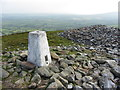 SN1533 : Trig point on Foel Drygarn, looking east by Gareth James