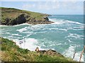 SW9981 : Lobber Point and Varley Point from the SW Coast Path, Port Isaac, Cornwall by Derek Voller