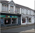 SN7810 : Vacant shop and a charity shop, Heol Eglwys, Ystradgynlais by Jaggery