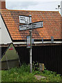 TM0651 : Roadsign on the B1078 Barking Road by Adrian Cable