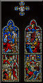 TF0664 : Stained glass window, All Saints' church, Nocton by Julian P Guffogg