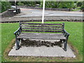 SN7810 : Inscribed bench near Ystradgynlais War Memorial by Jaggery
