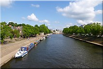 SE5952 : River Ouse from Scarborough Bridge by DS Pugh