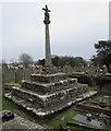 SS8377 : Newton Churchyard Cross, Porthcawl by Jaggery