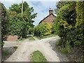 SJ7652 : Barthomley: tracks off Englesea Brook Lane by Jonathan Hutchins
