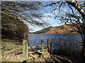 SH7660 : Stile on the lakeside path at Llyn Geirionydd, Snowdonia by I Love Colour