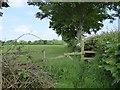 SJ7652 : Stile on field path near Barthomley by Jonathan Hutchins