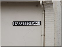 TM0855 : Barrett's Lane sign by Adrian Cable