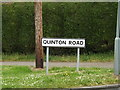 TM0854 : Quinton Road sign by Adrian Cable