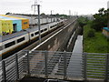 TQ5282 : Eurostar passing Rainham station by Marathon