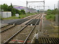 TQ4982 : Former level crossing at Dagenham Dock station by Marathon