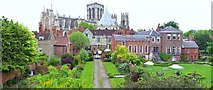 SE6052 : York Minster from the city wall by Len Williams