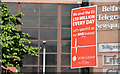 "J3374 : EU referendum ""leave"" poster, Belfast (June 2016) by Albert Bridge"
