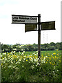TM1048 : Roadsign on Somersham Road by Adrian Cable