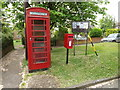 TM1048 : Telephone Box & 9 Little Box Meadow Postbox by Adrian Cable
