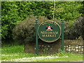 TM0954 : Needham Market Town Name sign by Adrian Cable