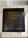 TM0954 : Departure sign at Needham Market Railway Station by Adrian Cable