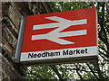 TM0954 : Needham Market Railway Station sign by Geographer