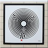 TQ2881 : Bond Street tube station - Labyrinth 137 by Mike Quinn