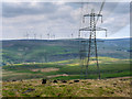 SD9619 : Pylons and Turbines by David Dixon