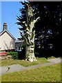 SW4630 : Tree sculpture, St Clare Street Penzance by Jaggery
