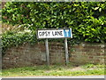 TM0855 : Gipsy Lane sign by Adrian Cable