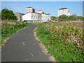 NS3372 : Cycle path approaching Port Glasgow by Thomas Nugent