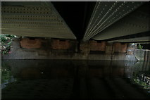 TQ3783 : View under the Greenway bridge from the River Lea towpath by Robert Lamb