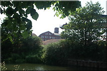 TQ3783 : View of the former Bryant & May match factory (Bow Quarter Estate) from the River Lea by Robert Lamb