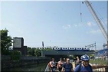 TQ3783 : View of a TfL Rail Class 315 train crossing the bridge over the River Lea by Robert Lamb