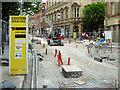 SJ8398 : Second City Crossing Work, Cross Street (June 2016) by David Dixon