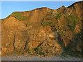 TG1443 : Landslide, laminations and flints by Hugh Venables