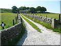SD9630 : Footpath on driveway to Old Royd Farm, Heptonstall by Humphrey Bolton