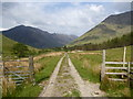 NN1054 : Open gate, Glean-leac-na-muidhe by Alan O'Dowd