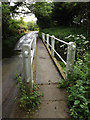 TM0358 : Footbridge at Wash Lane Ford by Adrian Cable