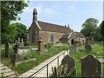 SS8983 : St.Ffraid's Church, Sarn by Alan Hughes
