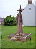 NU1241 : Statue of St Aidan, Lindisfarne by Len Williams