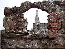 NU1341 : Lindisfarne Priory and Castle by Len Williams