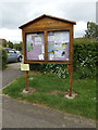 TM0157 : Great Finborough Village Notice Board by Adrian Cable