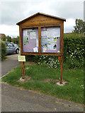 TM0157 : Great Finborough Village Notice Board by Adrian Cable