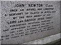 SP8850 : John Newton's grave by Alastair Stone