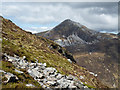 NN1462 : Boulders on steep slope of Beinn na Caillich by Trevor Littlewood
